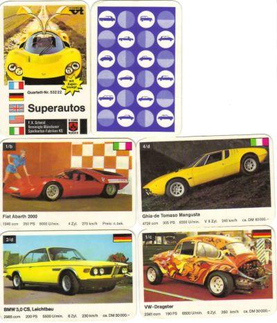 Das FX-Schmid Superautos-Quartett stellt Sportwagen und Prototypen von Lamborghini, Ferrari, Abarth, Pininfarina, Bertone vom Genfer Salon in Querformat-Fotos vor.