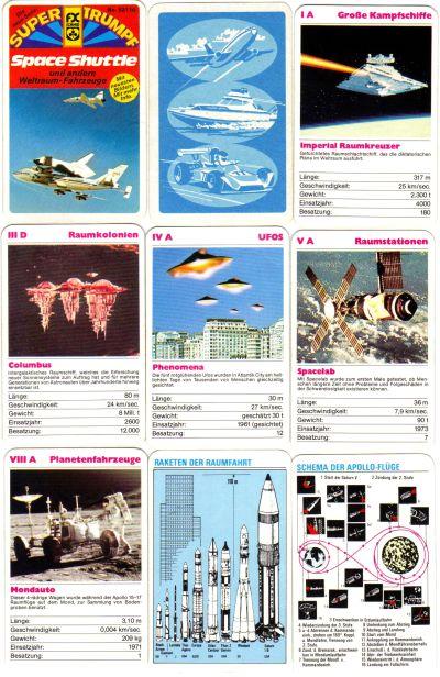 fx-52110_Space-Shuttle_Weltraum-Fahrzeuge-Quartett Star_Wars Nostromo