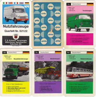 Lastwagen-Quartett Hanomag Magirus Faun Unimog