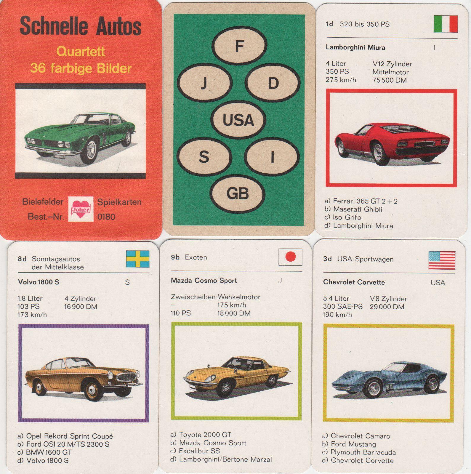Schnelle Autos (Bielefelder) | Quartettblog