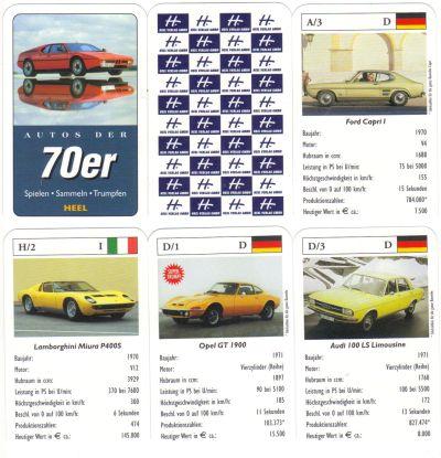 """Der Heel-Verlag in Königswinter veröffentlichte dieses Oldtimer-Kartenspiel mit dem BMW M1 im Dreierpack """"Auto-Quartette""""."""