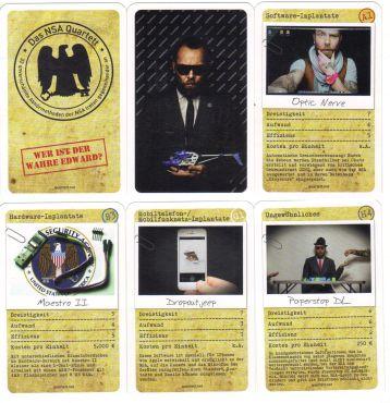 Das satirische NSA-Quartett von quartett.net mit Hardware- und Software-Implantaten zur Überwachung.