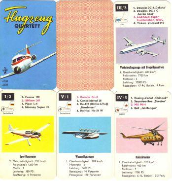 Pestalozzi-Flugzeugquartett_PV_6108_6100-Cessna-Super_Constellation-Dornier