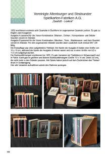 Alte ASS-Quartettboxen in Buchform im Sammlerkatalog für Quartette