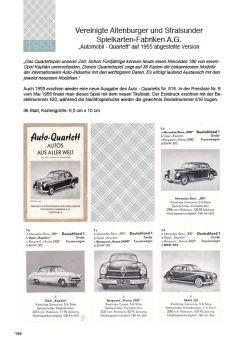 Autoquartett ASS 616 mit schwarzweißen Bildern im Quartettkatalog