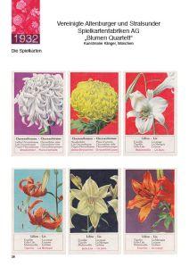 Altes Blumenquartett von ASS im Quartettkatalog