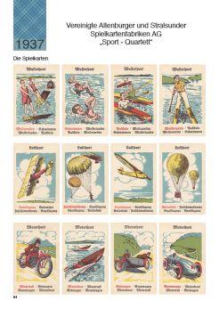 Wunderschönes altes Quartett mit allen Spielkarten von Altenburger