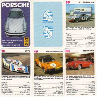 Porsche-Quartett von FX Schmid mit 911 Turbo, Porsche 917 CanAm, Porsche 914 und Porsche 356  – ein tolles Sportwagenquartett!