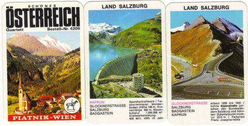 Aus dem schönen Österreich grüßt dieses Urlaubsquartett von Piatnik.