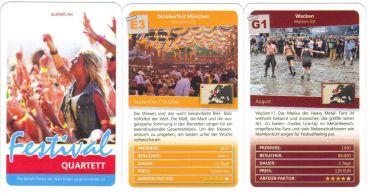 Die größten Rockfestivals, Events, Parties im Festival-Quartett von Quartettnet – von Wacken bis Oktoberfest, von Lollapalooza bis Holi.