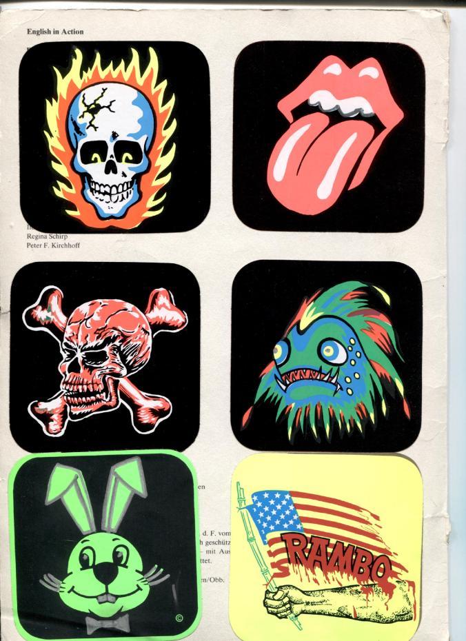 Grusel-Aufkleber und Horrorsticker aus den 80er-Jahren
