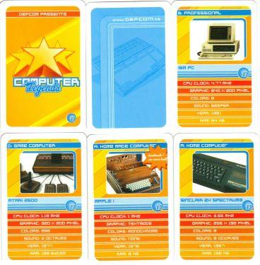Das Computer-Legends-Quartett von defcom zeigt Apple I, Atari, Sinclair Spectrum, Commodore C64 und Amiga 500, Sega Master System und Altair 8800.