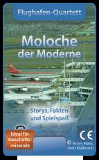 Das Flughafen-Quartett namens Moloche der Moderne im Selbstverlag zeigt Flugplätze und Airports