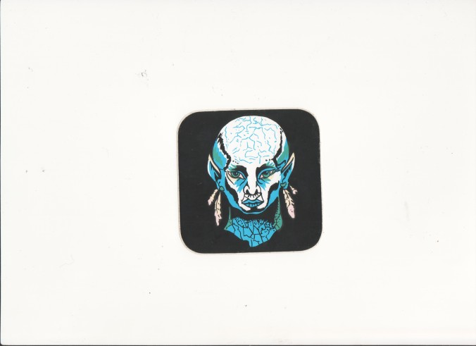 Horror-Sticker vom Jahrmarkt Echsenmann