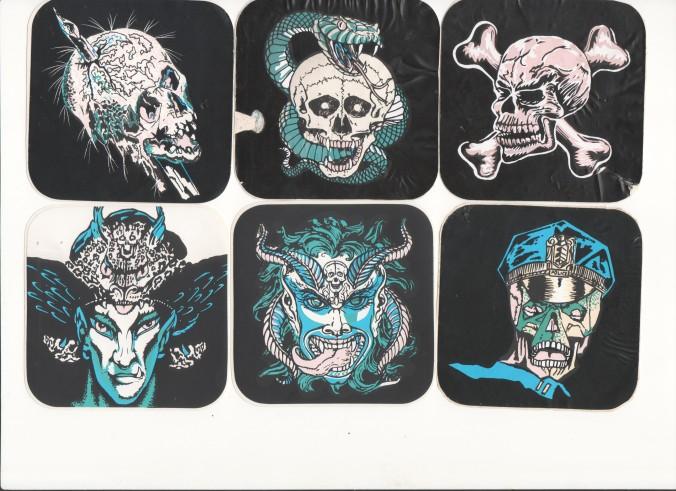 Horror-Sticker vom Jahrmarkt bzw. von der Kirmes-Schießbude