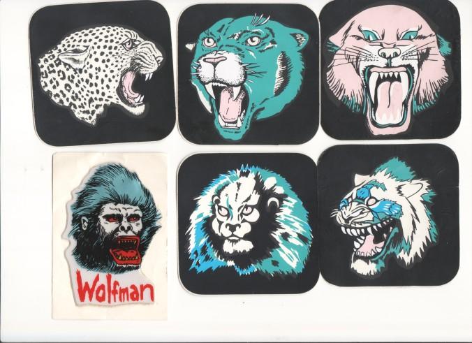 Coole Sticker mit Spuk-Horror-Grusel- und Schockmotiven