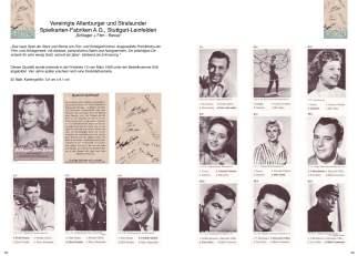 """Das Quartett Schlager und Filmrevue von ASS mit Marilyn Monroe wird im Quartettkatalog Vereinigte Altenburger und Stralsunder Spielkartenfabriken"""" gezeigt."""