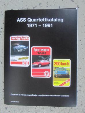 ASS Quartettkatalog von Gerolf Wüst zeigt alle technischen Quartettspiele mit Titel, Jahrgang usw.