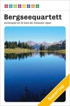 Wie ein Autoquartett aber mit Schweizer Bergseen ist das Alpinquartett gestaltet.