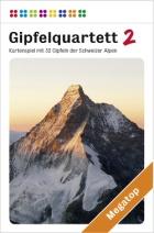Gipfelquartett mit Schweizer Bergen wie dem Matterhorn