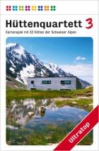 Das Hüttenquartett zeigt Chalets, Almen und Berghütten der Schweiz