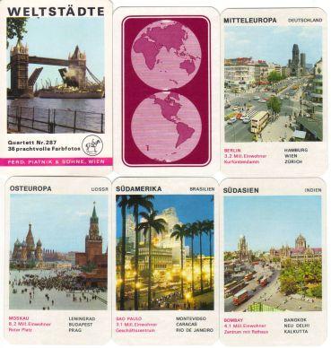 Westberlin wird im alten Piatnik-Quartett Weltstädte mit der Nr. 297 natürlich mit dem Kudamm Ecke Joachimsthaler mit Blick auf Tauentzien dargestellt, außerdem sind Tower Bridge und Roter Platz enthalten.