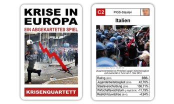 Das Krisenquartett Krisen in Europa ist ein politisches Kartenspiel