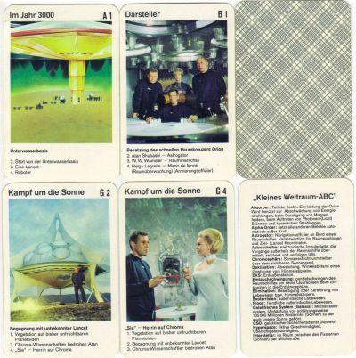 Das Quartett Raumpatrouille Orion zeigt Farbszenen der Bavaria-Science-Fiction-Serie mit Dietmar Schönherr und den Frogs