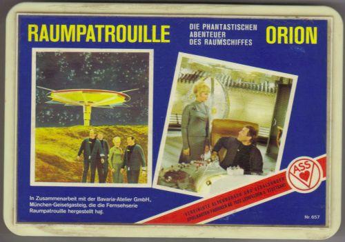 Das Quartett Raumpatrouille Orion von ASS mit Nr. 657 kommt in einer dekorativen Geschenkbox