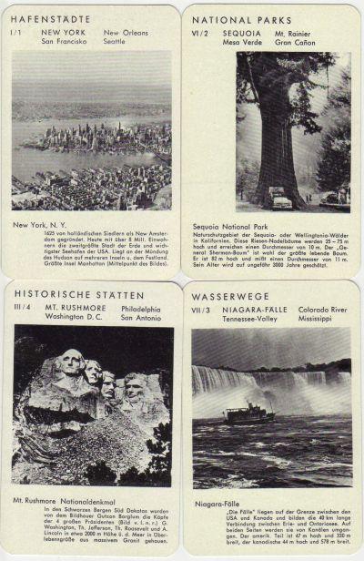 Zur US-Präsidentschaftswahl hier das Quartett Amerika mit historischen 50er-Jahre-Bildern von New York, Mount Rushmore, Niagara, Mammutbäumen und vielem mehr.