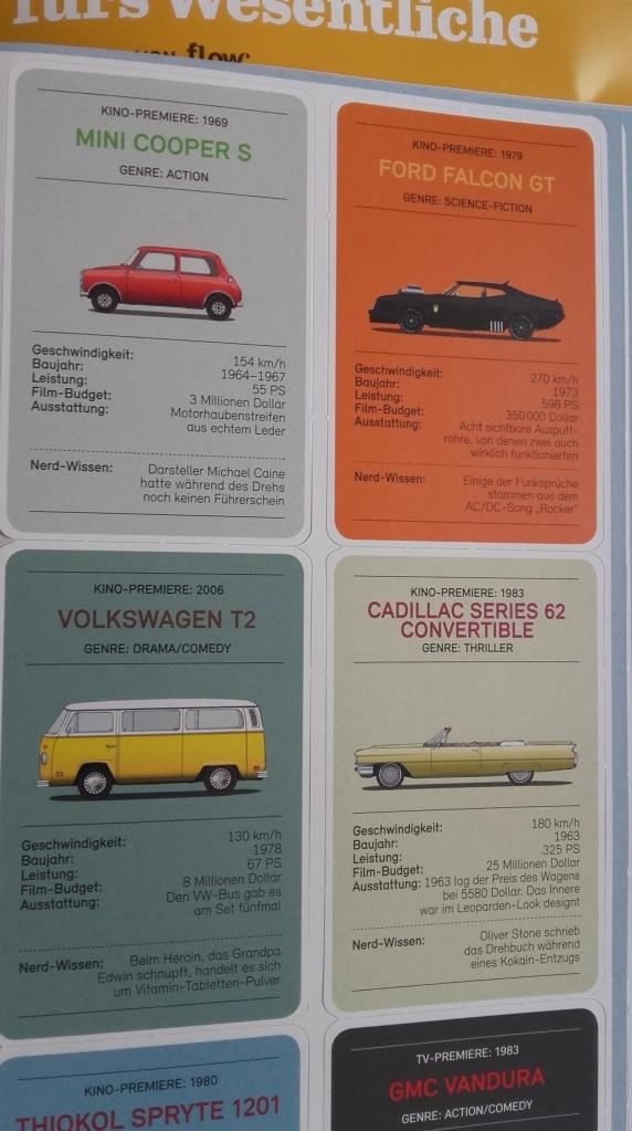 Retro-Autoquartett Filmautos im Wolf-Magazin von Flow Gruner und Jahr