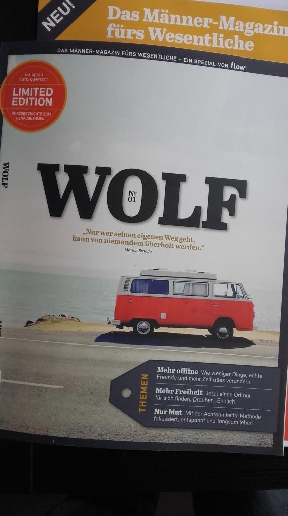 Wolf Magazin ist das Männer-Magazin von Flow mit Retro-Autoquartett Filmautos von Illustrator Jesus Prudencio
