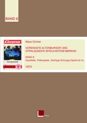 Der Quartettkatalog band 6 von 1970 von Klaus Dünker im Lärchenverlag mit vielen Autoquartetten, Ausmalquartetten und dem Carrera-Quartett