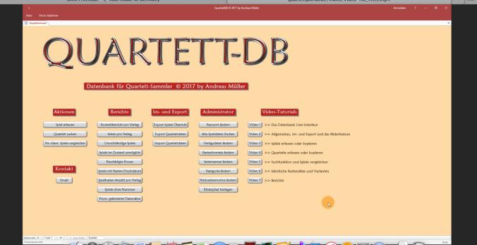 Die Quartett-Datenbank von Andreas Müller hat mehrere Tutorials auf der Startseite,
