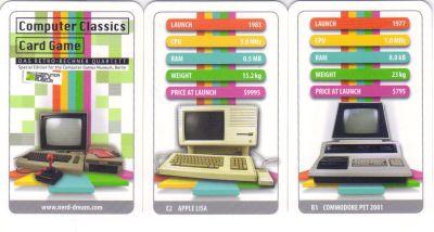 Das Computerquartett mit Retro-Rechnern in der Special Edition vom Computer Games Museum Berlin mit Commodore, Atari, Apple Lisa ist bei quartett.net erhältlich.