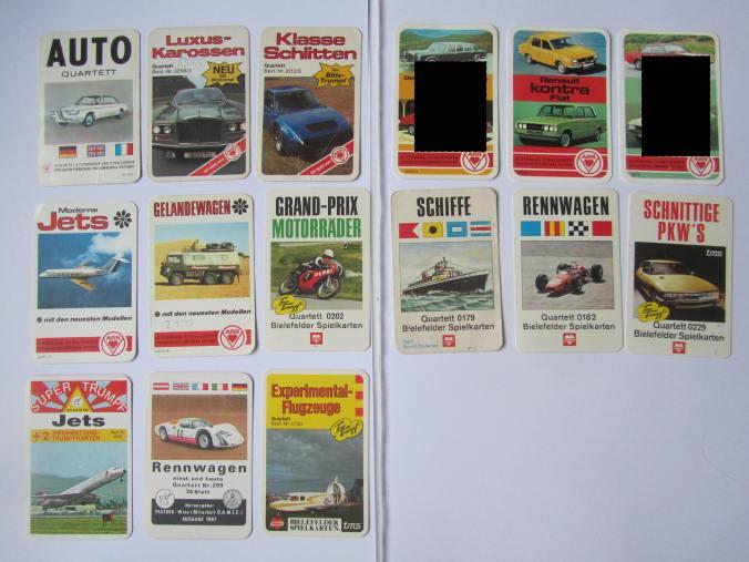 Autoquartett-Deckblatt-Tauschaktion - Titelkarte sucht Autoquartett auch Ankauf