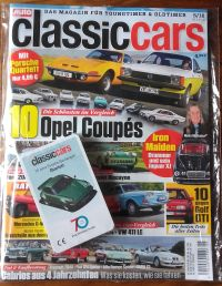 Die Ausgabe Mai 2018 des Oldtimer-Magazins Classic Cars hat ein Autoquartett 70e Jahre Porsche Sportwagen als Beilage.