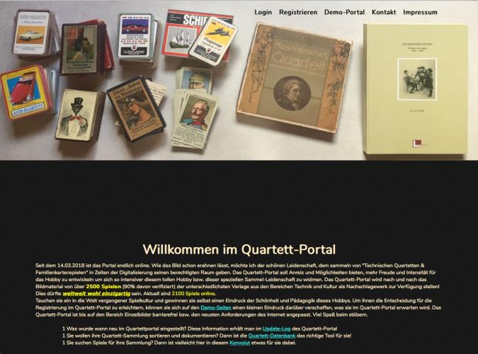 Das Quartettportal von Andreas Müller ist ein Onlinekatalog, der über 2000 Quartettspiele mit allen Karten umfasst.