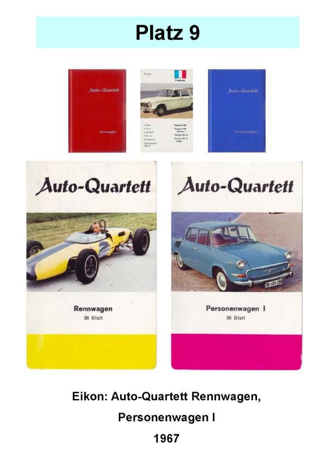 Eikon Auto-Quartett Rennwagen und Personenwagen I 1967 – Platz 9 der Top 12 der technischen Quartettspiele Raritäten