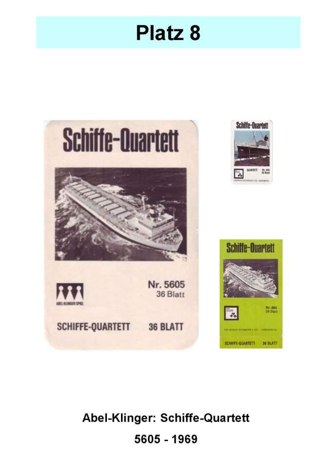 Abel-Klinger (Nürnberger) 5605: Schiffe-Quartett – Platz 8 der Top 12 der technischen Quartettspiele Vortrag Familienkartenspiele