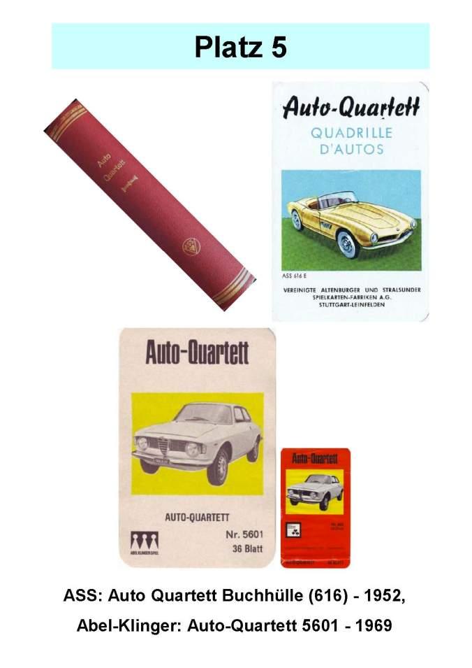 ASS Auto-Quartett Buchhülle und Abel-Klinger Auto-Quartett – Platz 5 der Top 12 der technischen Quartettspiele wertvoll