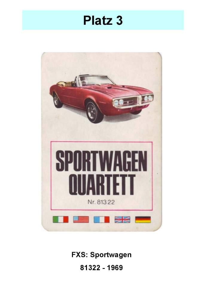 FX Schmid Sportwagen Quartett 81322– Platz 3 der Top 12 der technischen Quartettspiele von Herbert Kutter