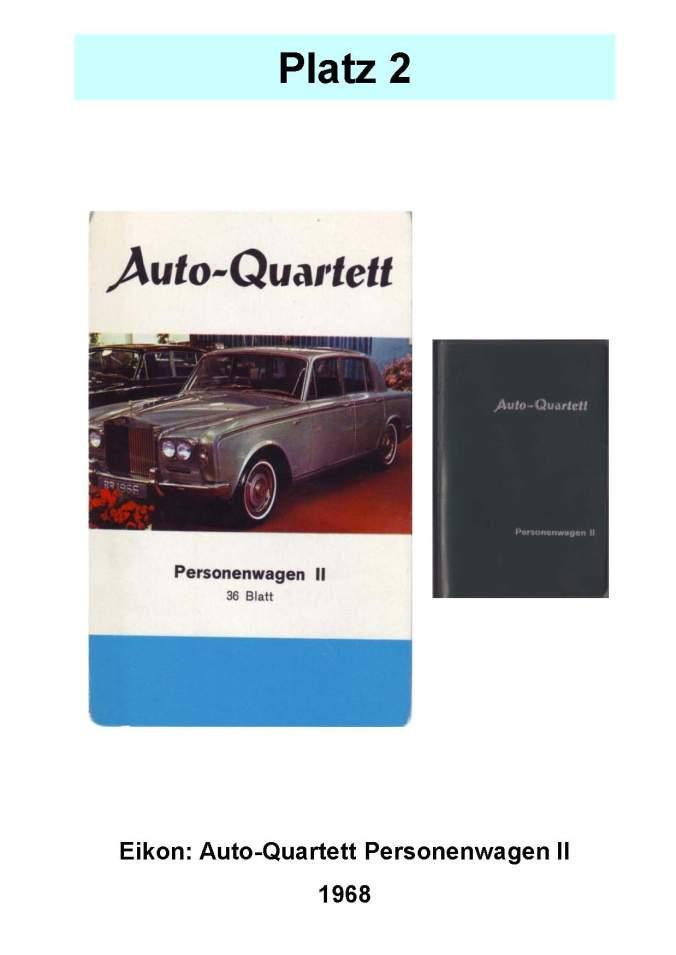Eikon: Auto-Quartett Personenwagen II – Platz 2 der Top 12 der technischen Quartettspiele Raritätenliste