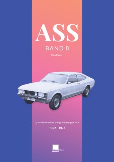 Der Band 8 der ASS-Quartettkatalog-Reihe von Klaus Dünker zeigt einen Ford Granada auf dem Titel.