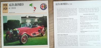Der Alfa Romeo 6c auf einer Sammelkarte von Edito Service.