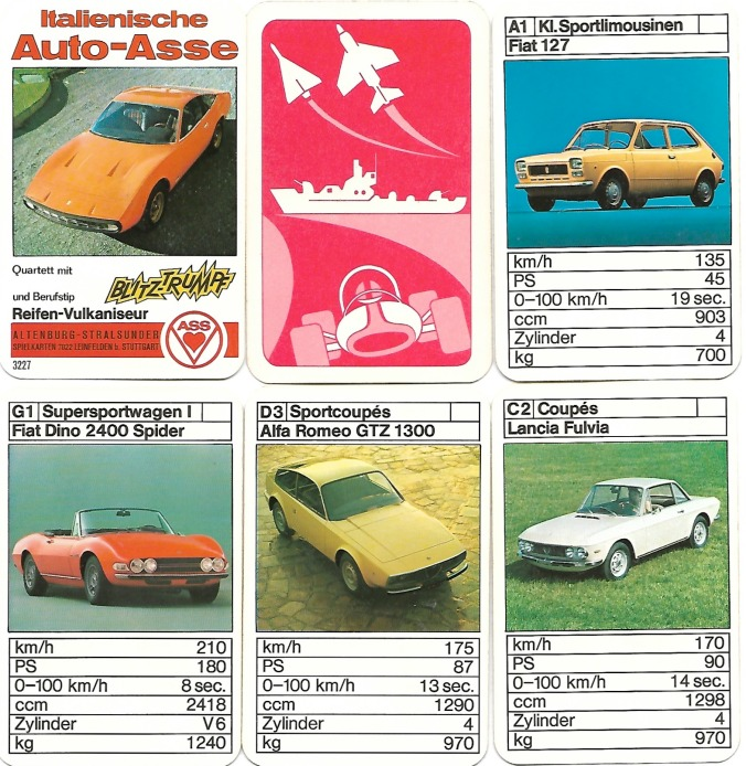 Das Quartett Italienische Auto-Asse