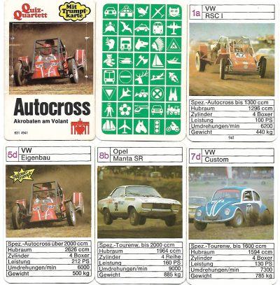 Das Autocross-Quartett von Berliner Spielkarten