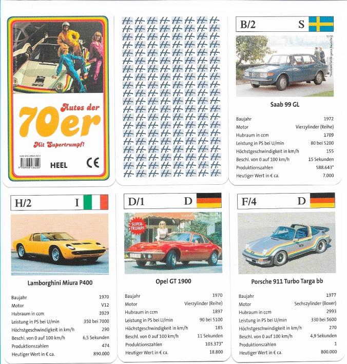 Autos der 70er Quartett von Heel Königswinter