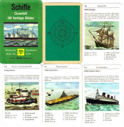 """Das Bielefeler """"Schiffe""""-Quartett in 6 Spielkarten"""
