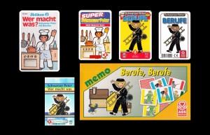 Schwarzer-Peter-Spiele zum Thema Berufe